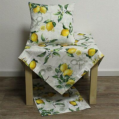 ischläufer Kissenhülle Decke Baumwolle Provence Zitrone Gelb (Gelbe Tischdecke)