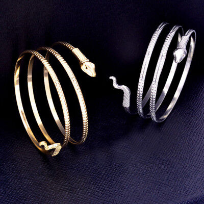 Spiral Cuff - Coiled Snake Spiral Upper Arm Cuff Armlet Armband Bangle Bracelet Alloy Anklet.