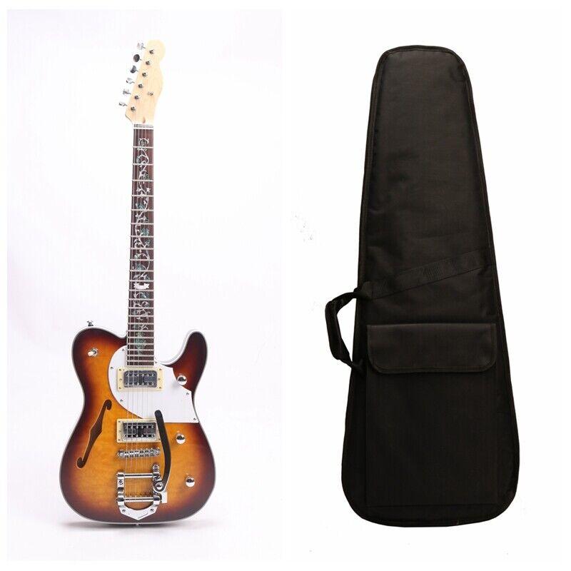 Zuwei F Hole Semi Hollow Body TL Style Electric Guitar Bone Nut Canada Maple