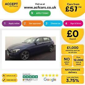 BMW 118 2.0TD auto 2013MY d Sport FROM £57 PER WEEK!