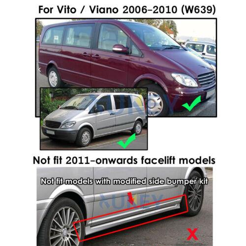Set Mud Flaps For Benz Vito Viano W639 2006-2010 Splash Guards Mudguards Fender