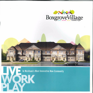 Markham Boxgrove Village Luxirious  Townhome Assignment  Sale!