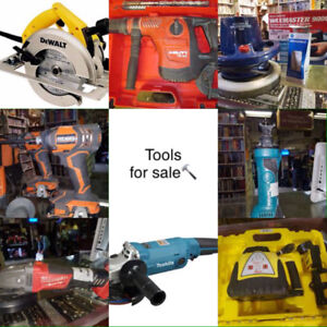 Tools for sale - Drills, Saws, sockets, screwdrivers $1+up