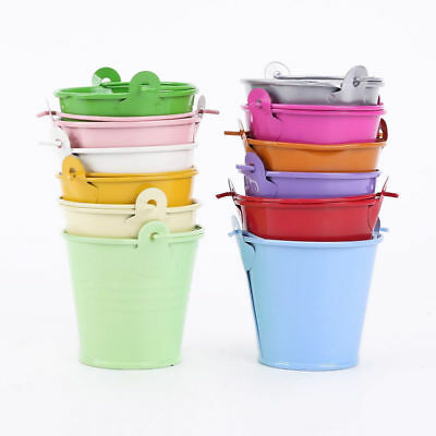 10 Pcs Metal Mini Buckets Pail Bucket Wedding Party Candy Favours Gifts 8 Colors - Colored Metal Buckets