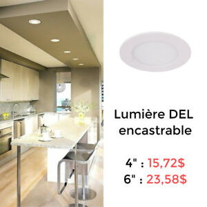 "LUMIÈRE LED ENCASTRABLE MINCE 4"" OU 6"" // SLIM LED PANEL - RS"