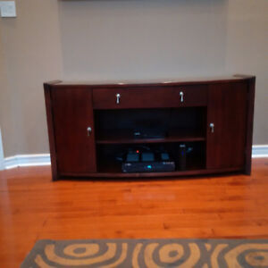 Entertainment Console TV Cabinet Solid Wood