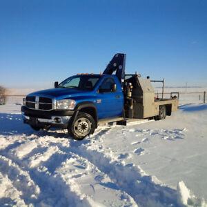 2008 dodge Ram 5500 HD Diesel 4x4 Picker/Crane truck