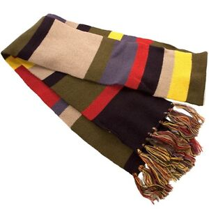 4th-Doctor-WHO-Official-Licensed-DELUXE-6-SCARF-Costume-Prop-REPLICA-Tom-Baker