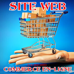 CONCEPTION SITE WEB E-COMMERCE - VENTE EN LIGNE