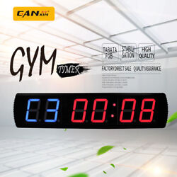 [Ganxin]4'' Large Crossfit Gym Wall Clock Interval Training Clock Led Gym Timer