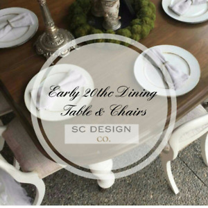 Exquisite Antique Dining Table and Chairs