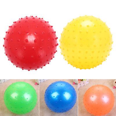 22cm massage ball beach game inflatable ball toy children kids toy random coloTR