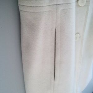 ANNE KLEIN IVORY WOOL FALL/WINTER PEA COAT - Excellent Condition Cambridge Kitchener Area image 3