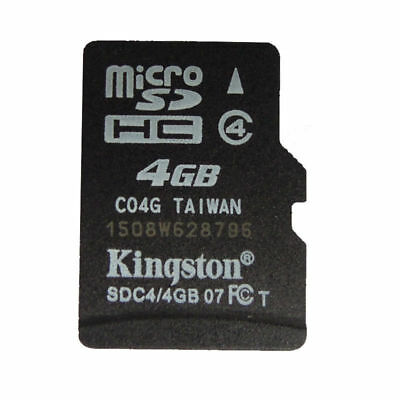 4GB Class 4 Original Kingston MicroSD TF Memory Card Phone whlesale M
