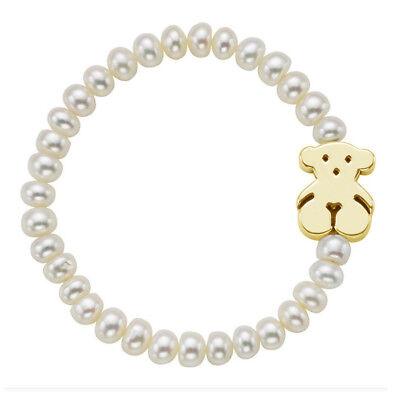 Teddy bear bracelet natural pearl jewelry woman bracelet ()