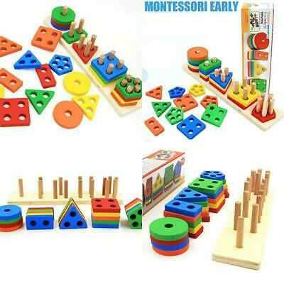 Toys For Preschoolers (Wooden Educational Preschool Toddler Toys For 1 2 3 4 5 Year Old Boys Girls)