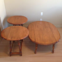 folding (leafed) coffee table and 2 end tables *PRICE DROP*