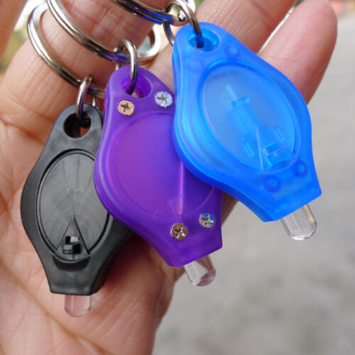 5Pcs Mini LED FlashLight Keychain Key Ring Torch Super Bright White Light.US