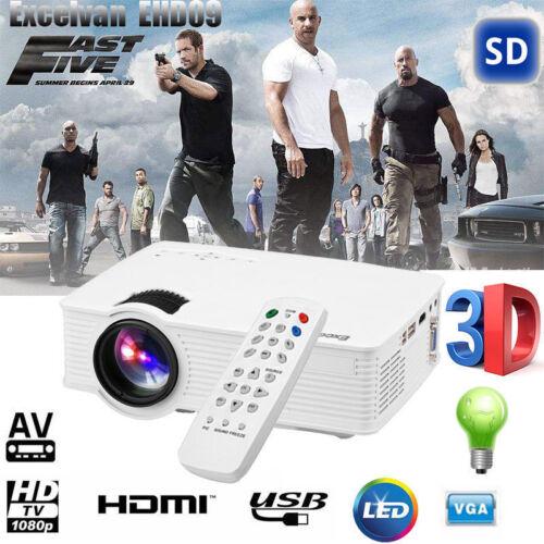 Aktualisiert 3000LM Multimedia Full HD LED Beamer 1080P Video Projektor HDMI/VGA