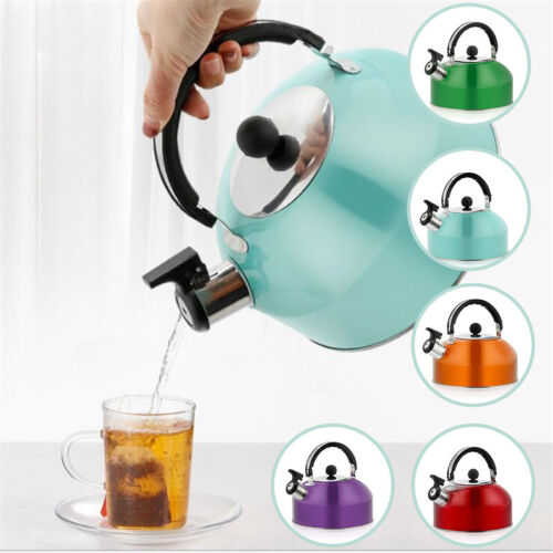 3L Stainless Steel Whistling Tea Kettle Hot Water Coffee Pot For Camping Fishing
