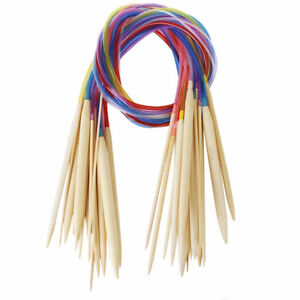 18 sizes Bamboo Circular Knitting Set with Colored Tube