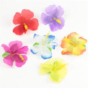 72X Luau Tropical HAWAIIAN SILK Hibiscus Colorful Flowers Decor POOL BEACH PARTY