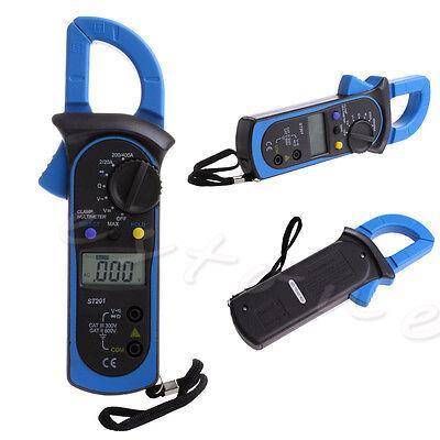 St-201 Clamp Multimeter Ohm Amp Meter Acdc Current Voltage Resistance Tester