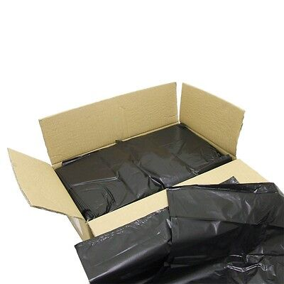 200 x HEAVY DUTY BLACK REFUSE SACKS  BIN LINER BAGS Free Next Day Delivery