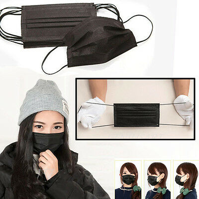 50x Disposable Medical Dust Mouth Surgical Face Mask Bacterial Filter Respirator