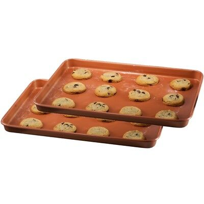 "Gotham Steel Bakeware Nonstick XL Copper Baking & Cookie Sheet 17"" x 12""– 2 Pack"