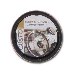 Couvre volant housse pour volant cuir 36 5 38 cm rose for Housse volant