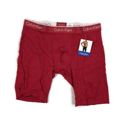 "Calvin Klein Mens Underwear Boxer Brief Microfber 9"" Cycle Short Air FX Red XL"