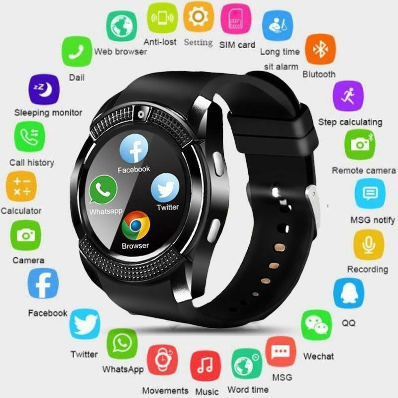 Smart Watch Android Phone V8 Bluetooth Samsung with Sport Ca
