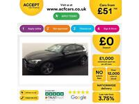 Black BMW 118i 1.6 170bhp Sports Hatch 2013 Sport 3 door FROM £51 PER WEEK!