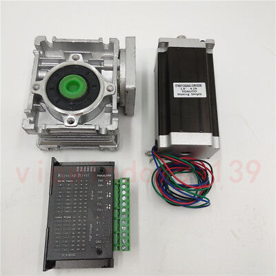101 Worm Geared Reducer Stepper Motor Nema23 11nm Tb6600 Driver Cnc Router Kit