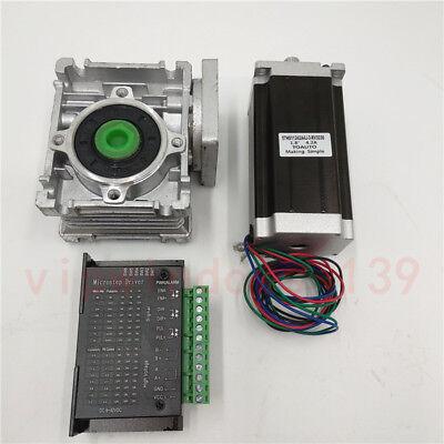 101 Worm Geared Reducer Stepper Motor Nema23 11nm Tb6600 Driver Cnc Router Kit