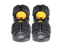 Adjustable dumbbells 2.5-25kg - 10 Weight Settings!