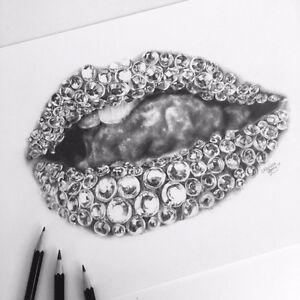 Diamond lip picture