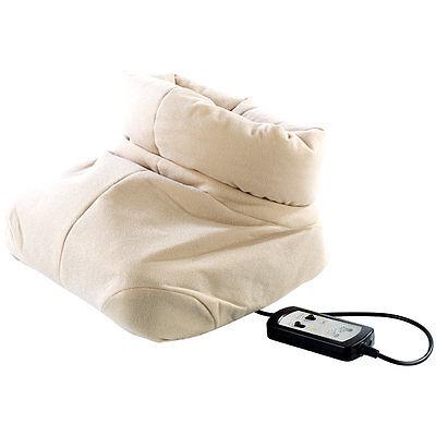 Fußmassage Geräte: Kuscheliger 2in1-Fußwärmer mit Shiatsu-Massagefunktion