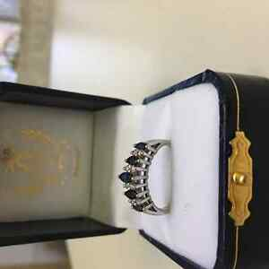 Diamond and Sapphire Ring size 7 for 300.00 London Ontario image 3