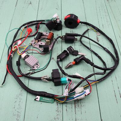 Full Wiring Harness Loom Solenoid Coil Regulator CDI 150cc Chinese ATV Quad Bike