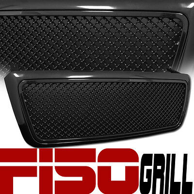Blk Bentley Mesh Front Hood Bumper Grill Grille Kit Replacement 04-08 Ford F150