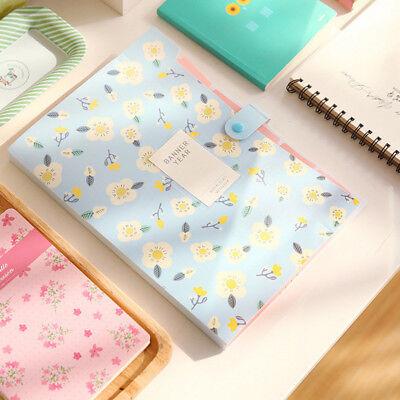 1 Pc Floral File Bag Pvc File Folder Document Bags Expanding Wallet Folders
