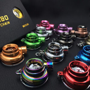 Electric Turbo keyring keychain has LED light and BOV so