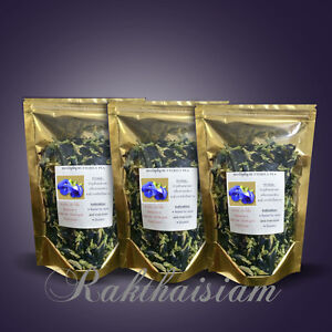 Butterfly Pea Anchan Thai Herb Natural 100% Tea Food Coloring Healthy 25gx3Pack