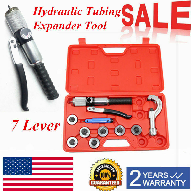 7 Lever Hydraulic Tubing Expander Tool  HVAC Tools  Swaging Tube Piping Pipe Kit