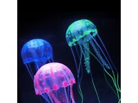 Fish Artificial floating jelly fish ornament - £3 .. Fish nets