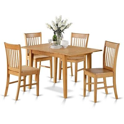 5 Pc dinette set - dining tables for small spaces and 4 chairs for dining room ()