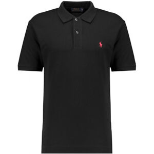 New Polo Sport Ralph Lauren Men Short Sleeved Polo Shirt Black L