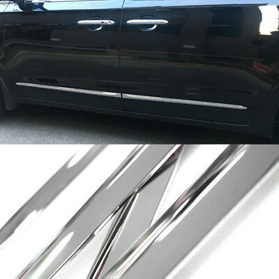 Chrome Side Skirt Door Line Sill Garnish Molding 4Pcs for KIA 16-19 Sedona